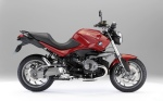 BMW r1200r red motorcycle